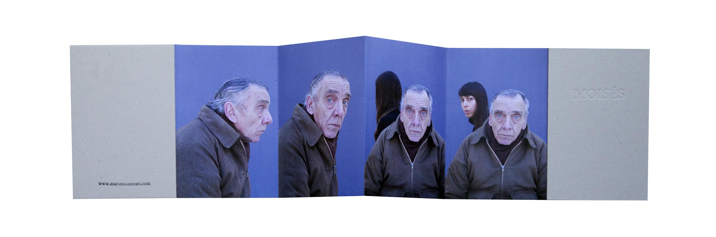 © Mariela Sancari, 10 x 15 cm. (extended 44 x 15 cm), pages 8 / accordion, images 6 plus text, edition of 200, 2014